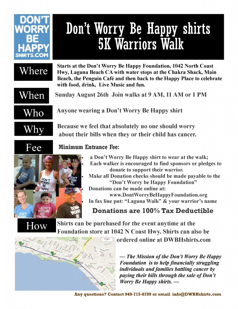 Join DWBHshirts WARRIORS 5 K WALK 8/26/12